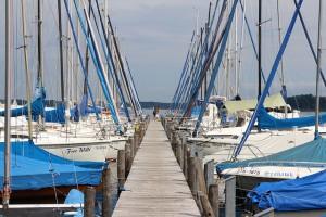 Segelbootverleih am Chiemsee